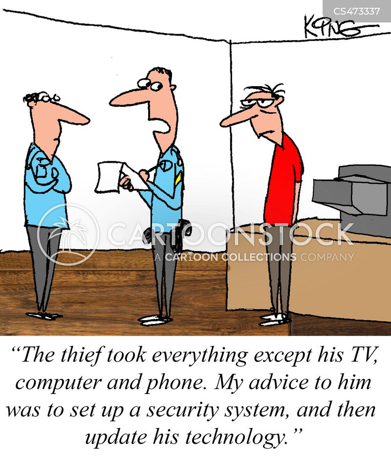 old tech cartoon