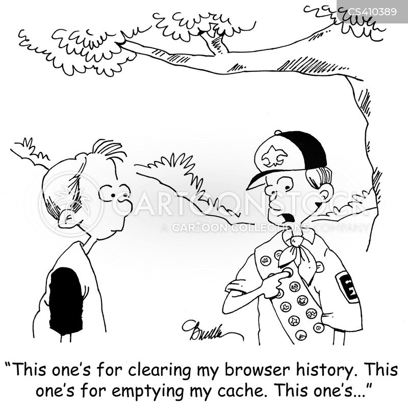 browser history cartoon