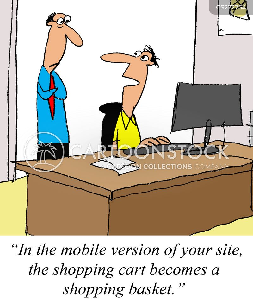 web developer cartoon