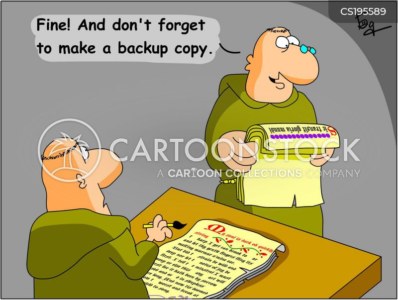 back-up cartoon