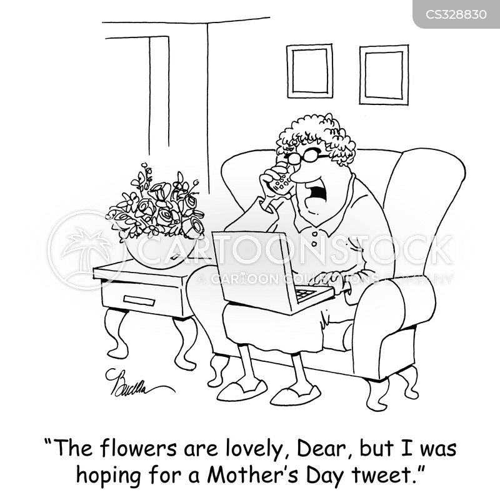 twittering cartoon