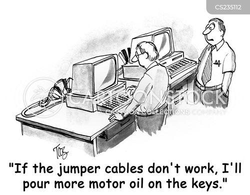 motor oil cartoon