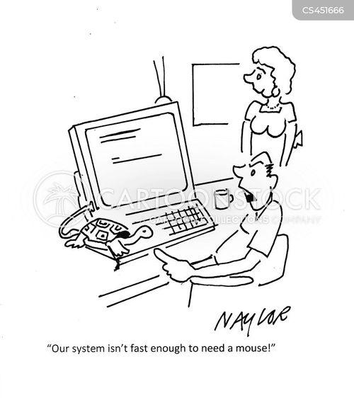 slow computers cartoon