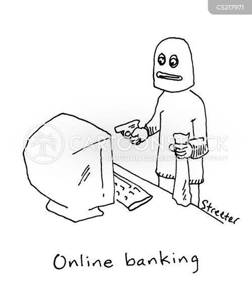 banking online cartoon