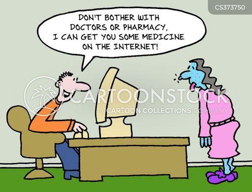ordering online cartoon