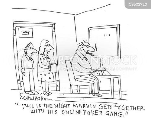 online gambling cartoon