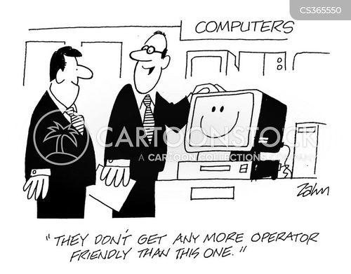 computer sale cartoon