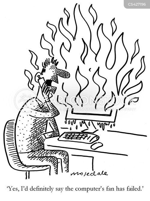 computer helplines cartoon