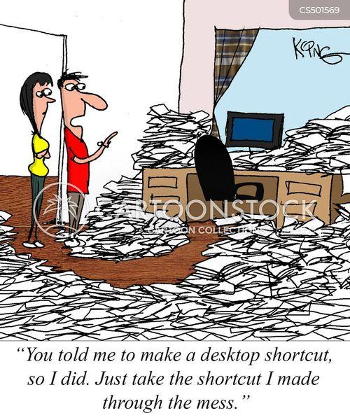 desk workers cartoon