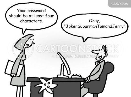 internet passwords cartoon