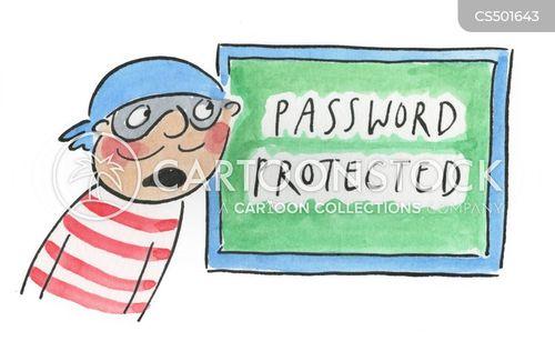 password protected cartoon