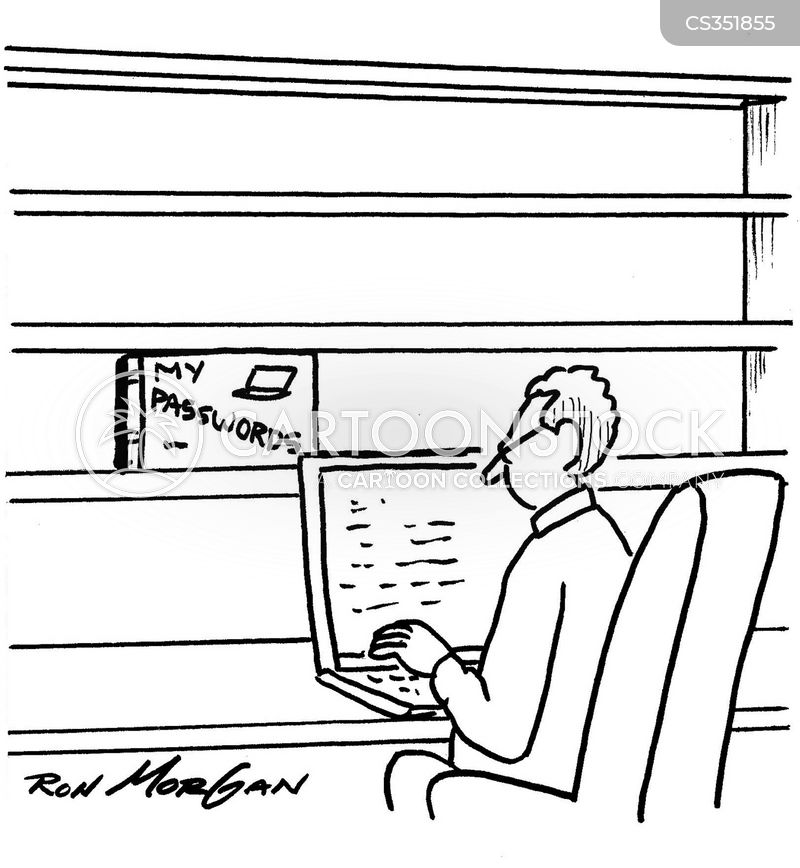 online presence cartoon