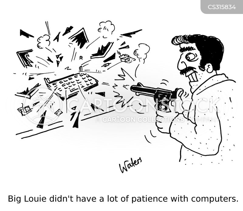 home computer cartoon