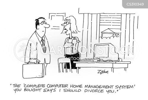 marriage break up cartoon