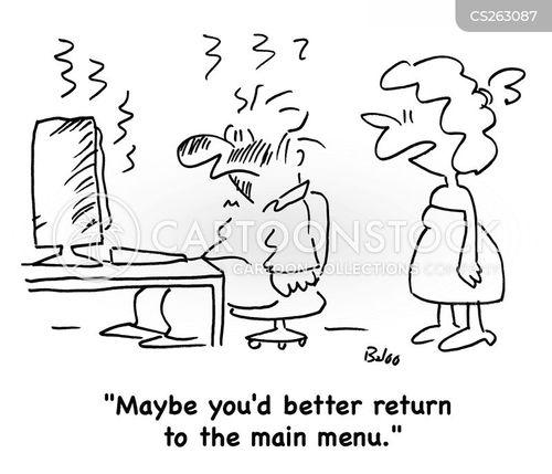 main menu cartoon