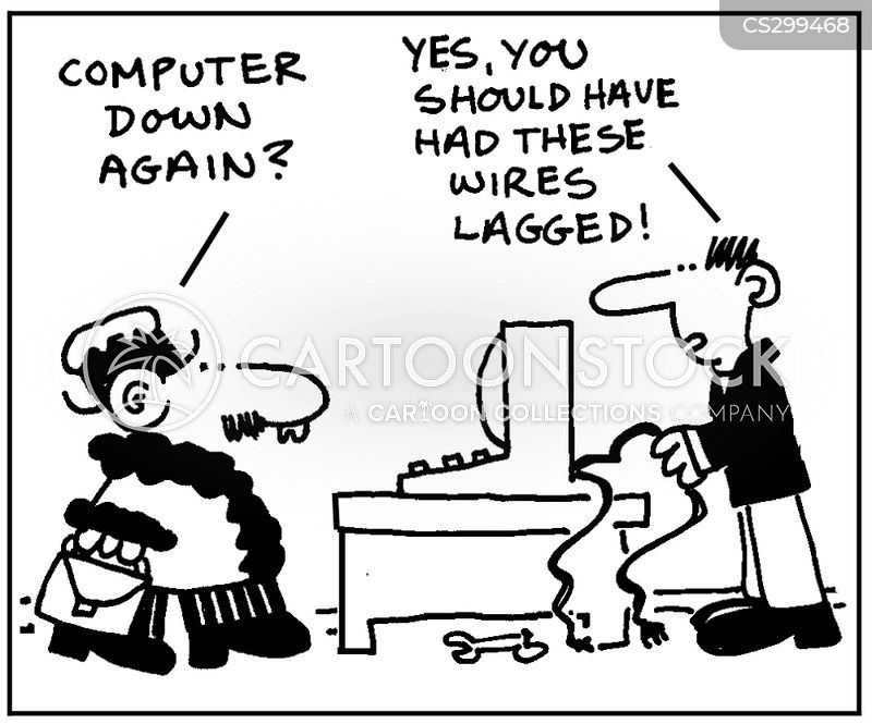 pc crash cartoon
