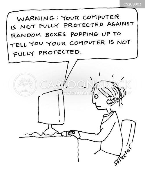 virus protection cartoon