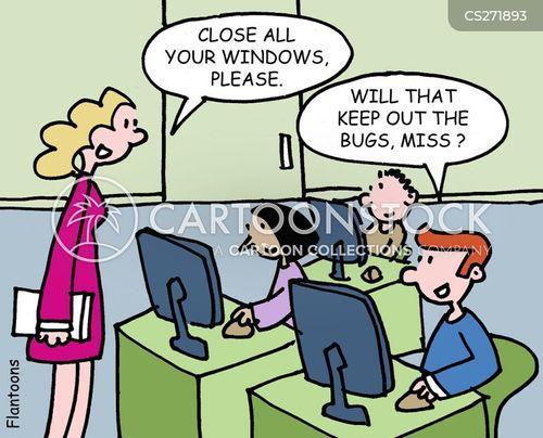 close windows cartoon