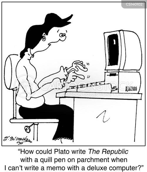 deluxe computer cartoon