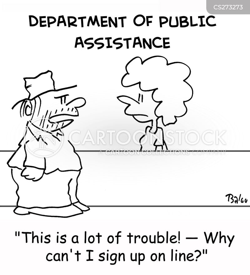 public assistance cartoon