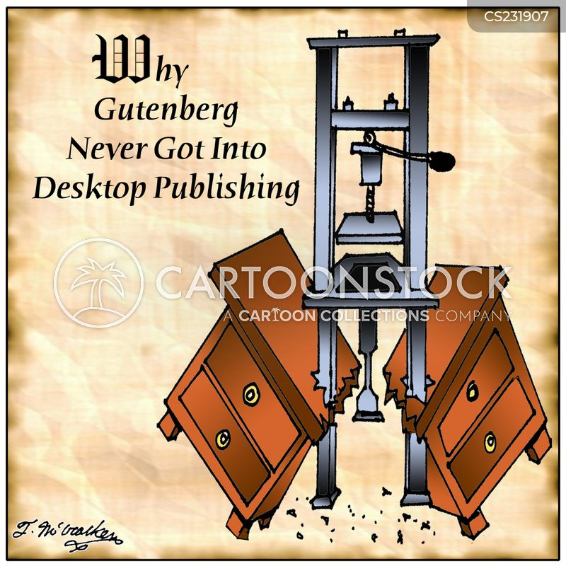 desktop publishing cartoon