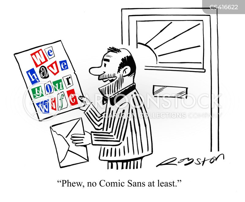 ransom notes cartoon