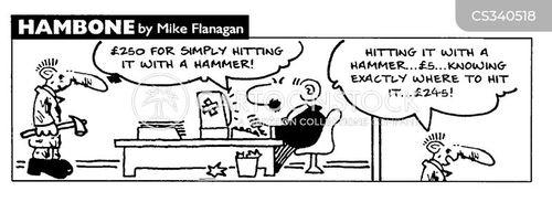 repair bill cartoon