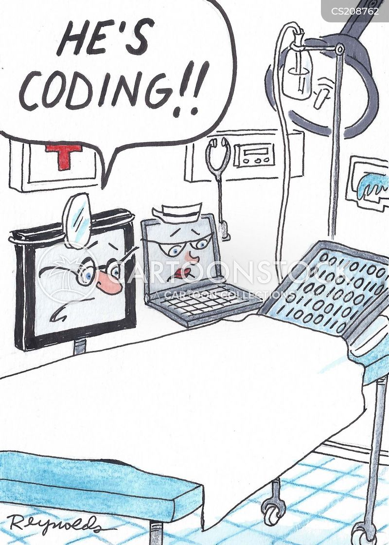 computer code cartoon