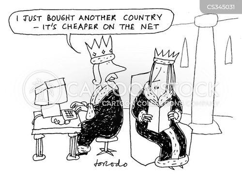 online shopper cartoon