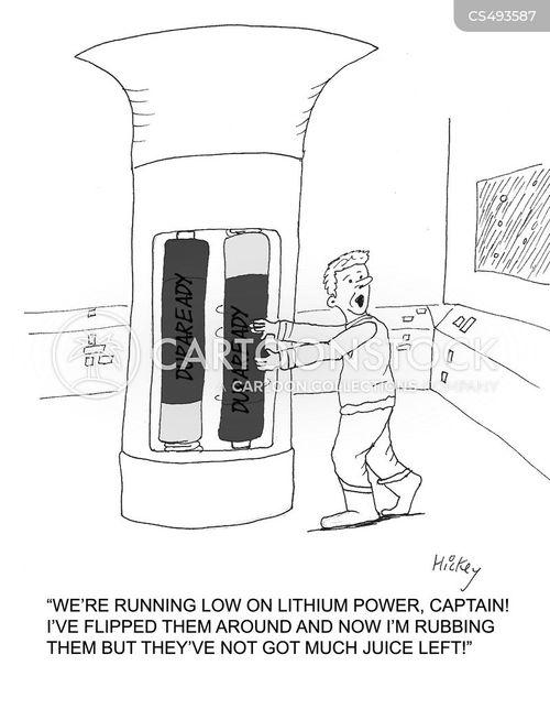 battery power cartoon