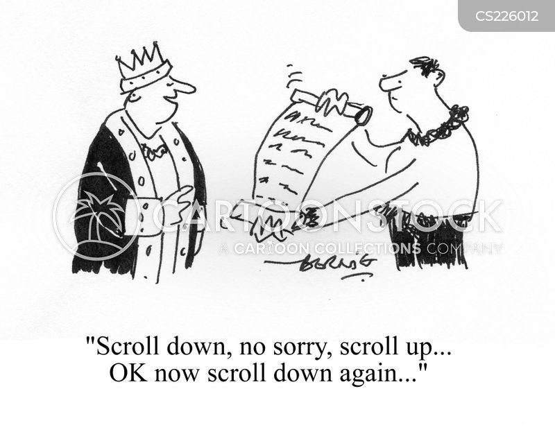 scrolls cartoon