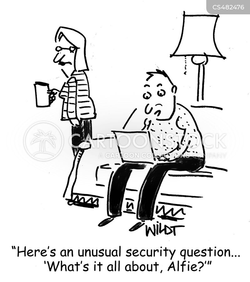 password protection cartoon