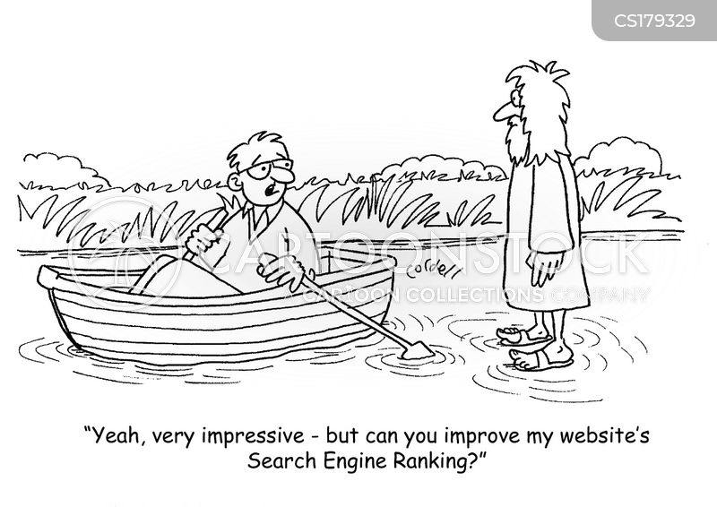 search engine ranking cartoon