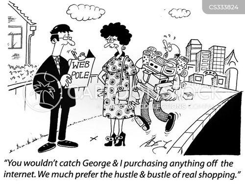 online stores cartoon