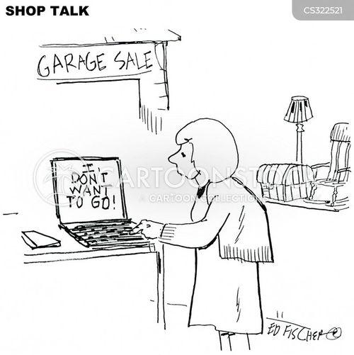 rummage sale cartoon