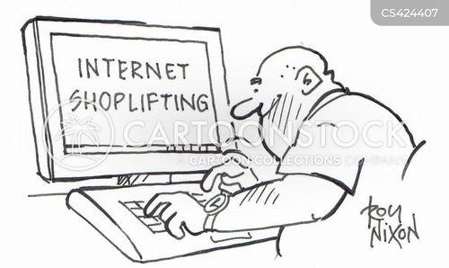 internet shop cartoon