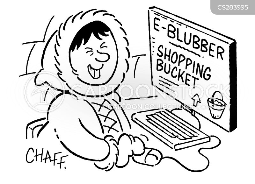 internet shoppers cartoon