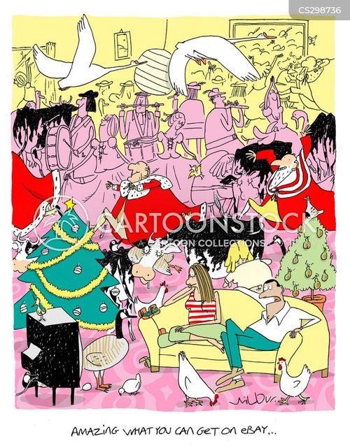internet auction cartoon