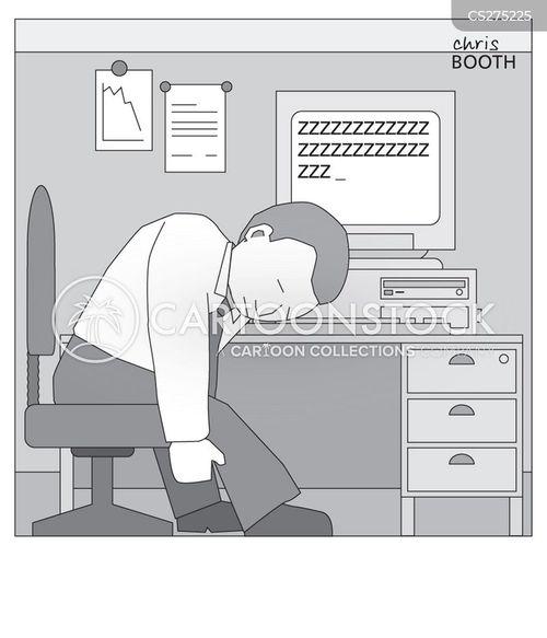 bored at work cartoon