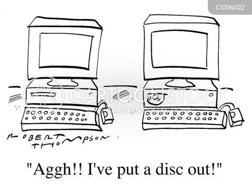 slipped disc cartoon