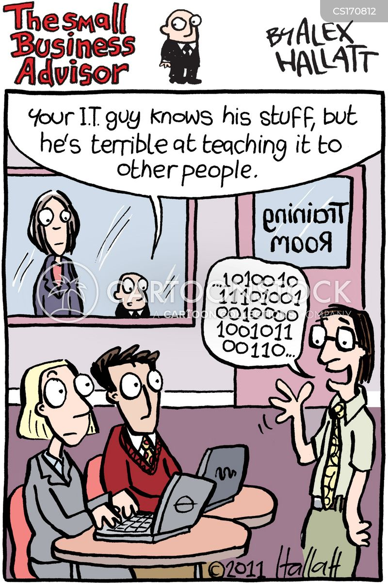 it technician cartoon