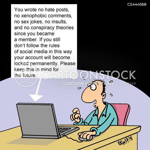 hate speech cartoon