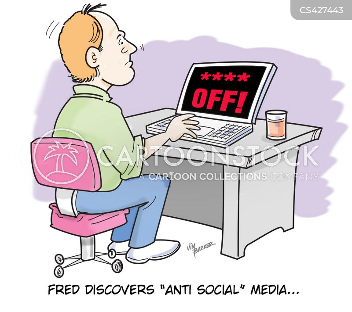 anti-social behavior cartoon