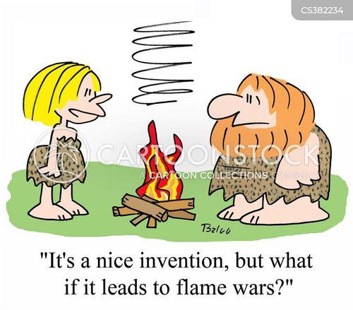 flame war cartoon