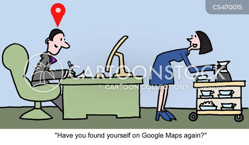 internet maps cartoon