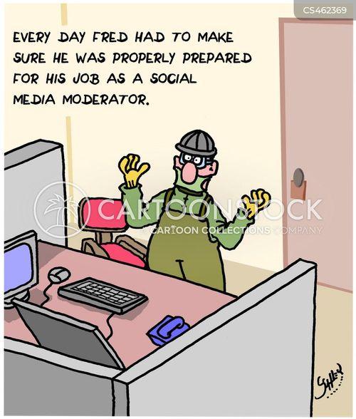 moderator cartoon