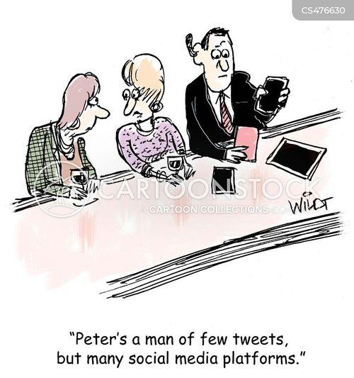social media platforms cartoon