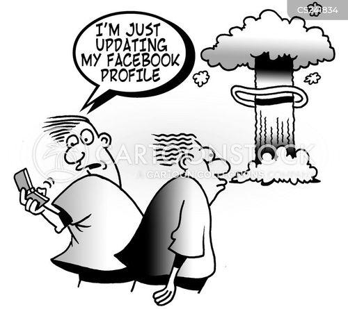 nuclear explosion cartoon