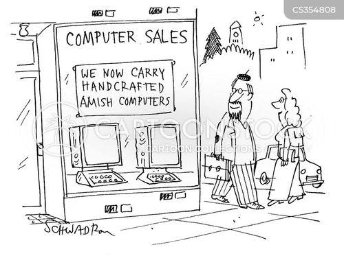 computer sales cartoon