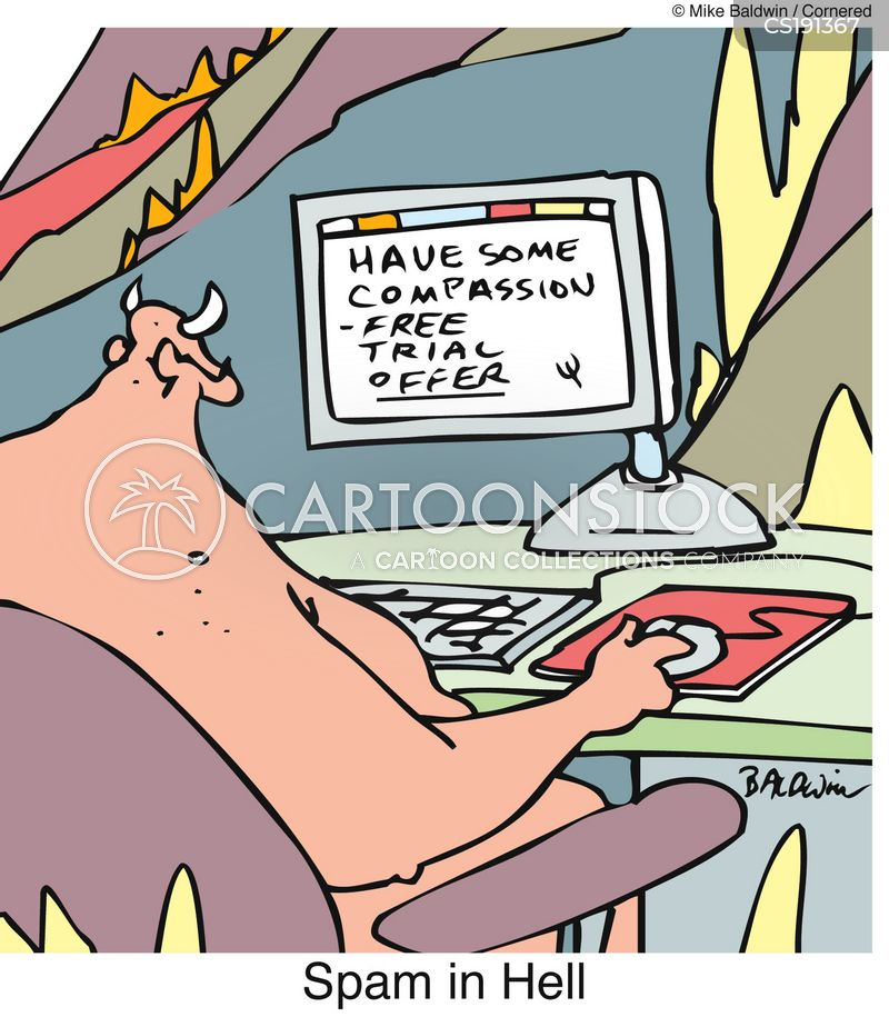 spam e-mail cartoon